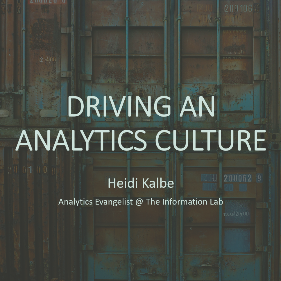 Driving an analytics culture